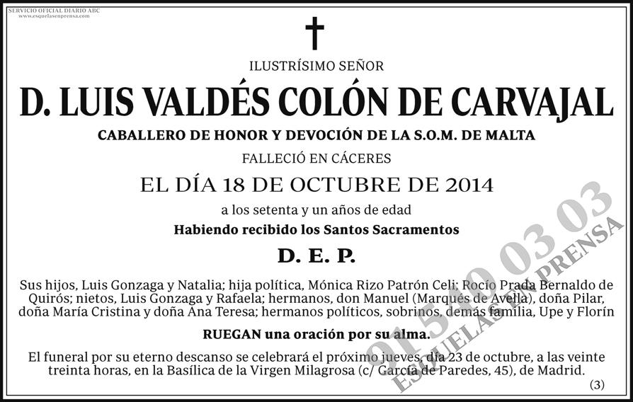 Luis Valdés Colón de Carvajal